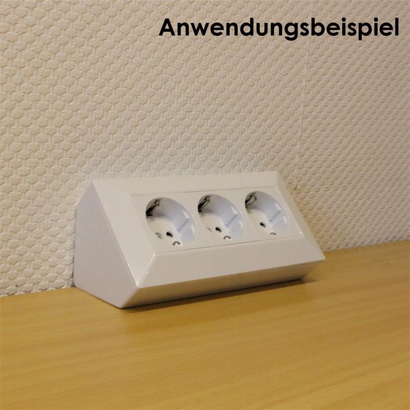 DELPHI 3-way socket block, white 250V ~ / 16A