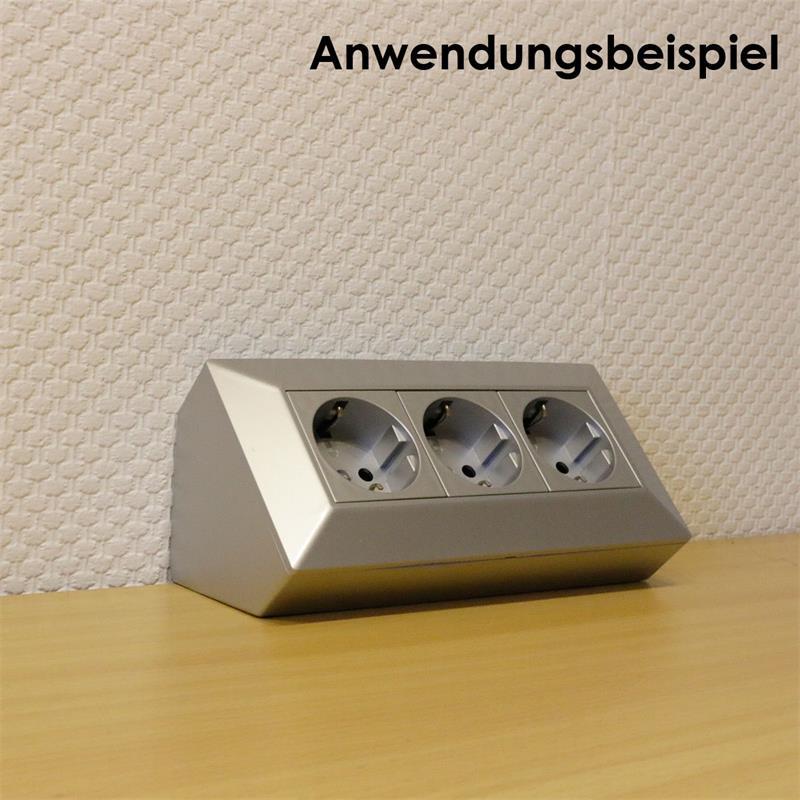 DELPHI 3-way socket block, silver 250V ~ / 16A