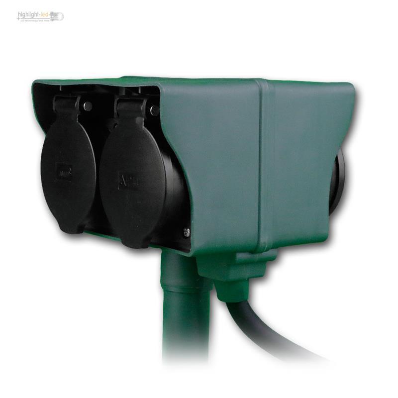 Gartensteckdosen-2-4-fach-Garten-Verteiler-Steckdose-versch-Typen-Aussensteckdose