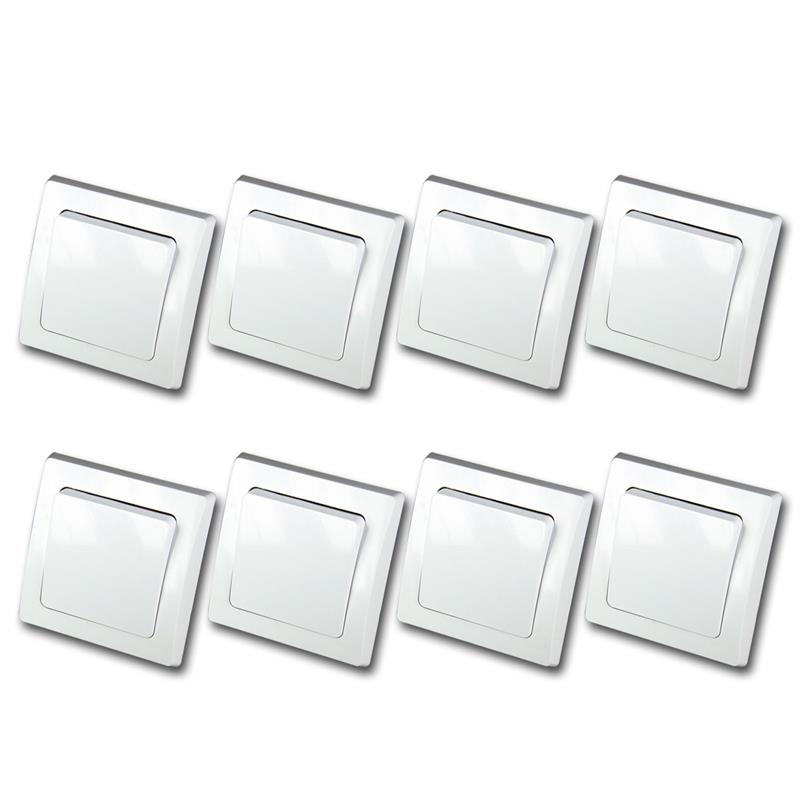 DELPHI changeover switch, set of 8, white