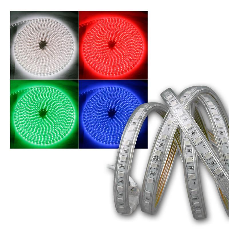 LED stripe RGB-Pro 230V, 10 meters IP44, IR FB