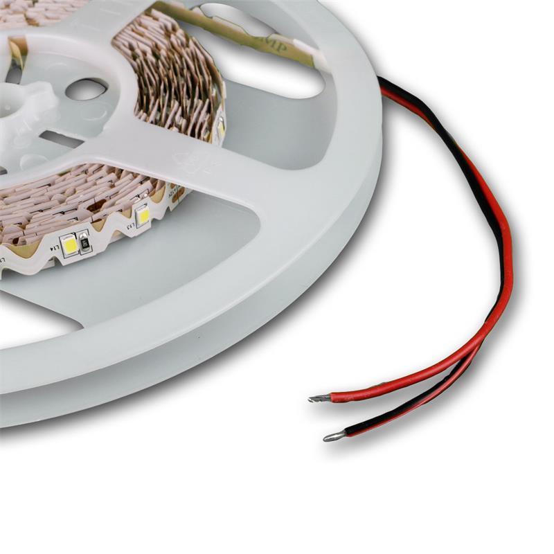 5m SMD Lichtband, 60LED/m kaltweiß, Winkel/Radius