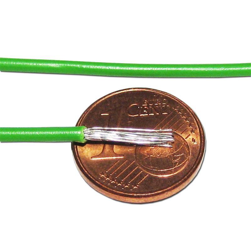10m Litze flexibel rosa 0,5mm² - Ø2mm