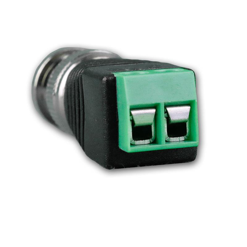 Set of 2 BNC connectors on screw connection