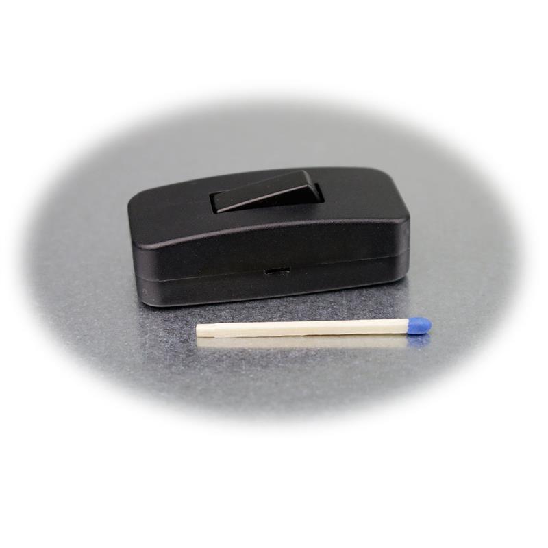 Schnurschalter Wippschalter schwarz Schnurzwischenschalter