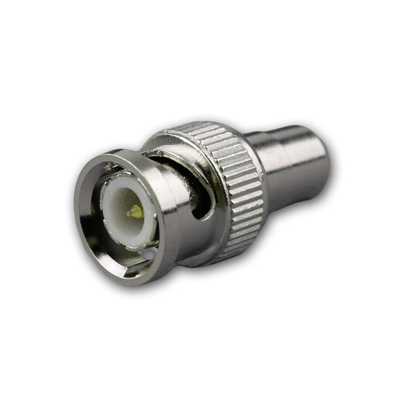 Adapter BNC-Stecker auf Cinchkupplung