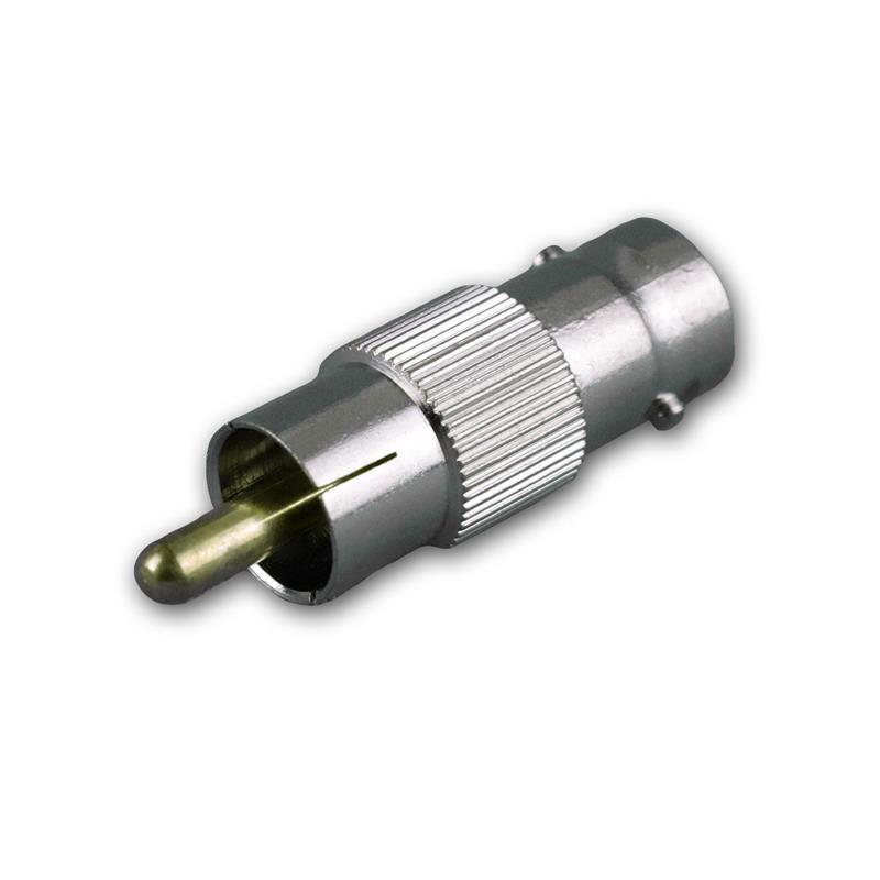 BNC adapter, BNC plug to RCA socket