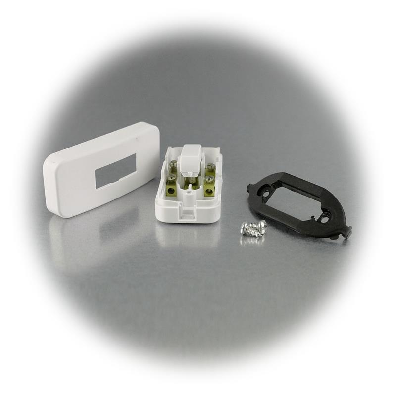 Wipp-Zwischenschalter 2A/230V Gehäuse weiß