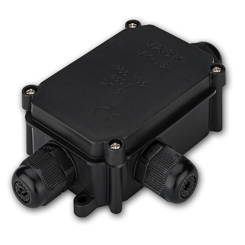 schutzbox f r l sterklemmen ip66 f r 3 kabel. Black Bedroom Furniture Sets. Home Design Ideas