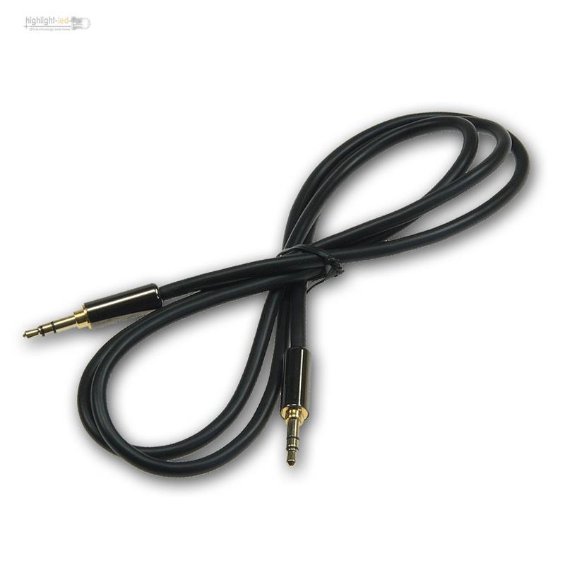 audio klinke aux kabel premium 3 5mm stereo klinken. Black Bedroom Furniture Sets. Home Design Ideas