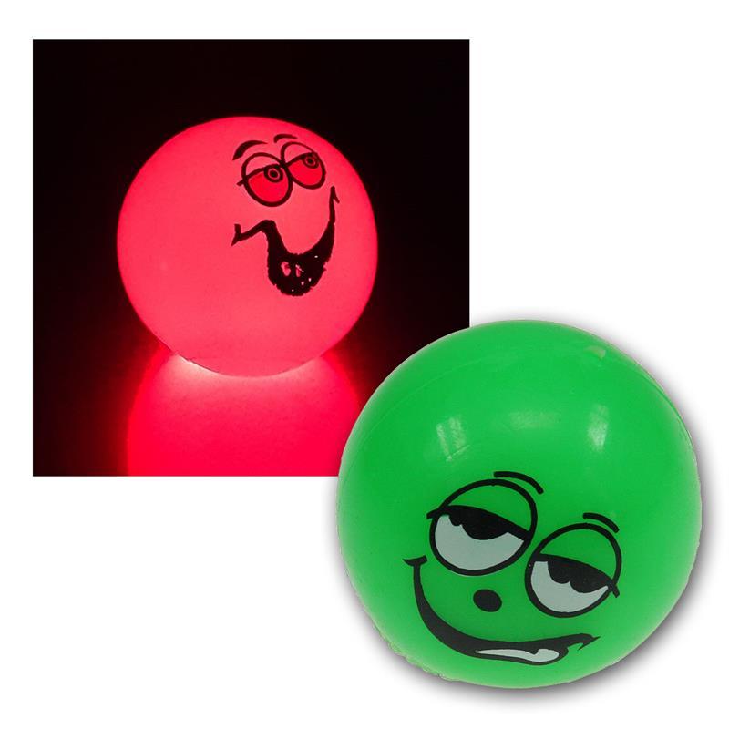 LED-Flummi Smiley, Ø 55mm, multicolor unsorted