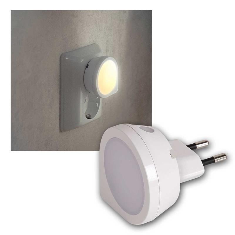 LED Nachtlicht mit Dämmerungssensor, 0,4W230V