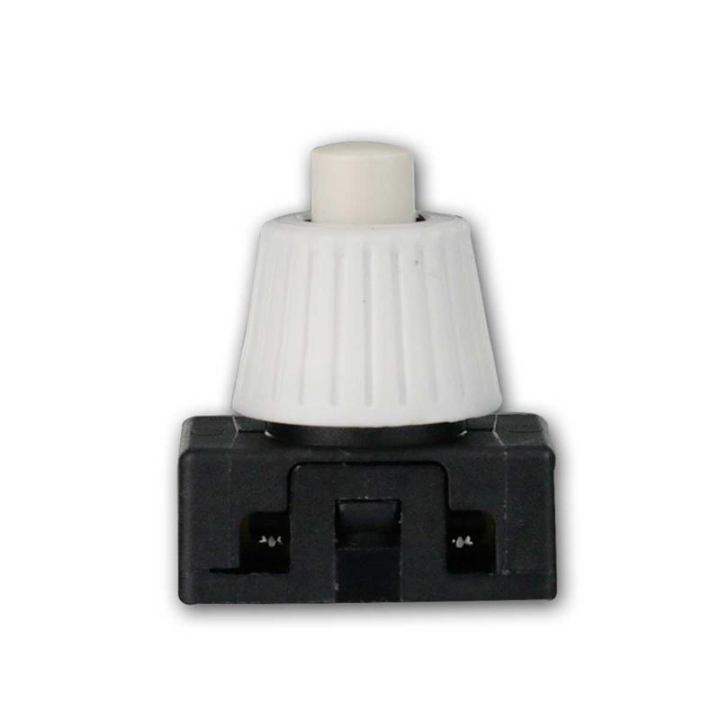 Druckschalter 1-polig EIN/AUS 230V/2A weiß