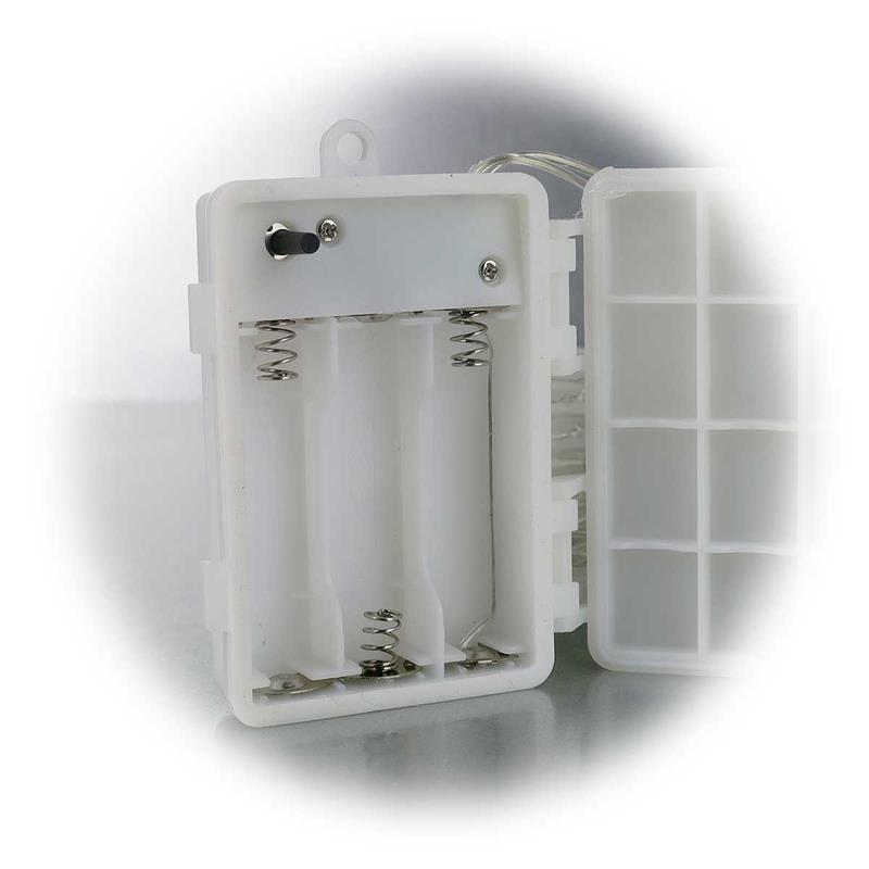 Led batterie lichterkette ct tk100 10 0m ip44 - Weihnachtsbeleuchtung mit batterie und timer ...