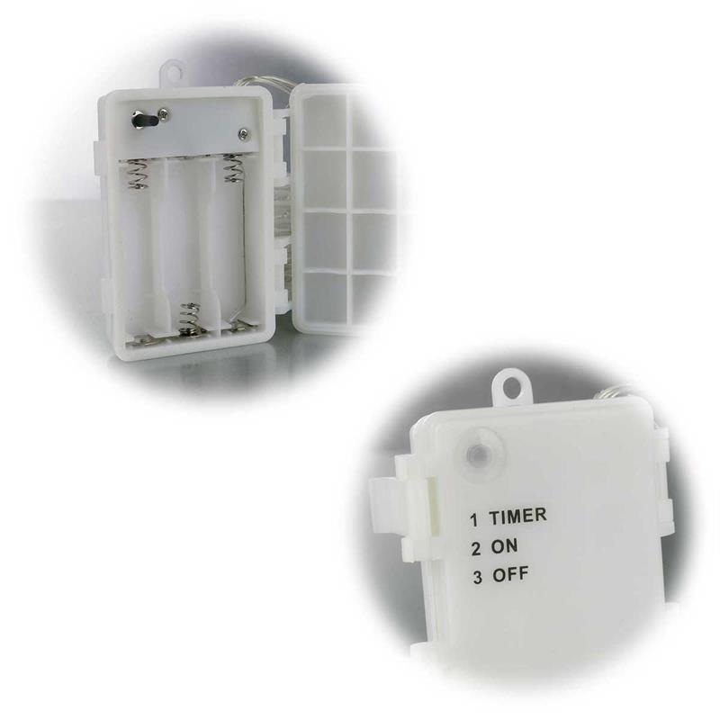 LED Lichterkette | Batterie/Solar | 5/10m | innen und außen