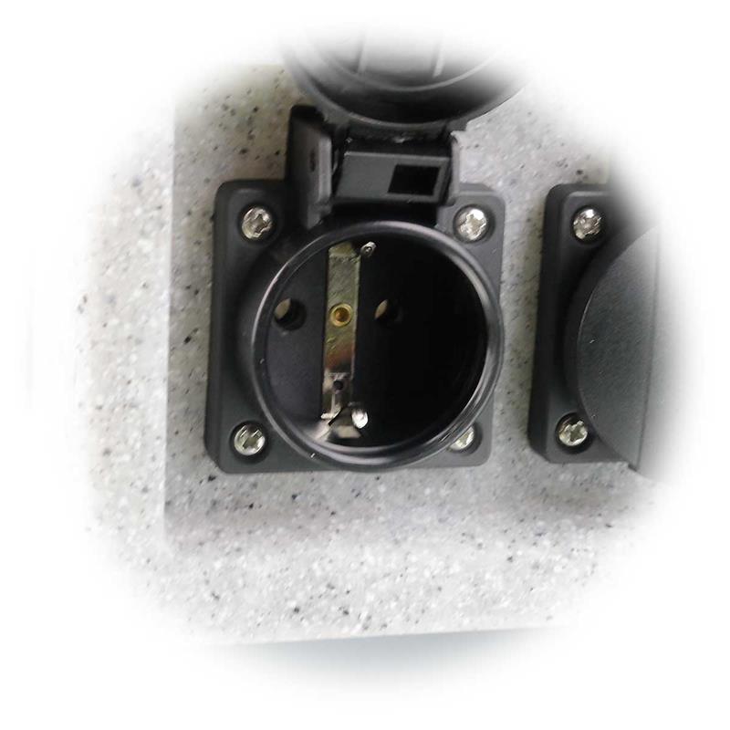 Garden sockets 4-fold | IP44 | max. 3.500W