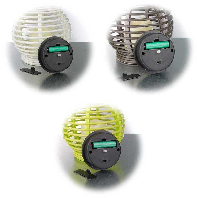 led solar laterne wei braun gr n au en weidenoptik. Black Bedroom Furniture Sets. Home Design Ideas