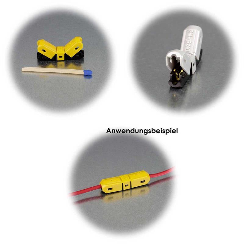 Schneidklemme  | I-/T-Typ| weiß/grau/gelb | 10er Set