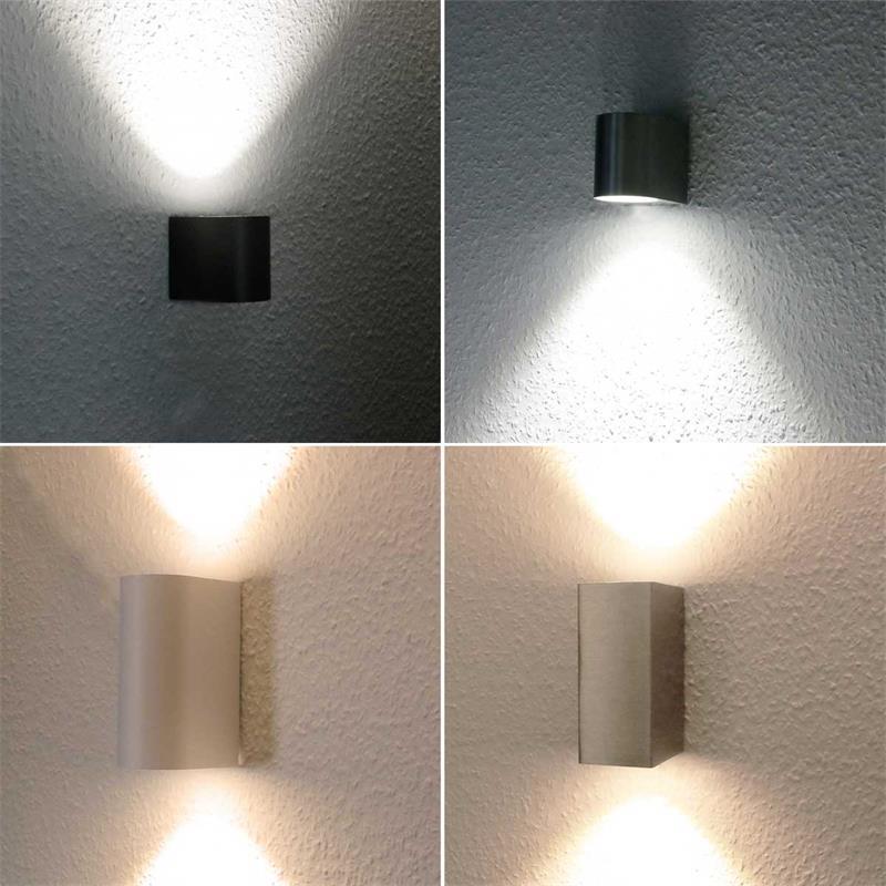 LED-Wandleuchte | anthrazit/silber/weiß | IP44 | 3/5W