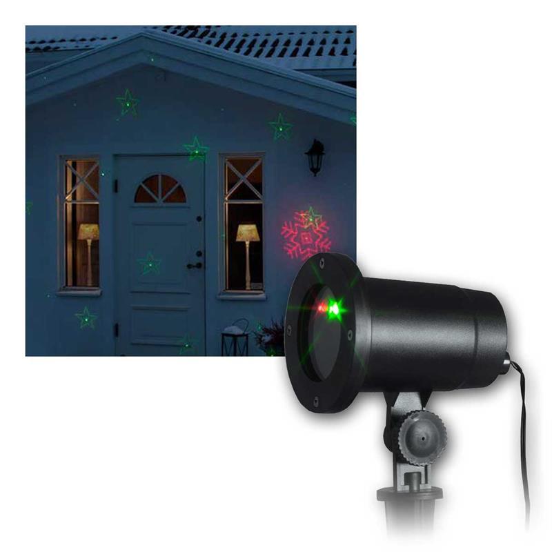 led laser projektor rot gr n 8 motive. Black Bedroom Furniture Sets. Home Design Ideas