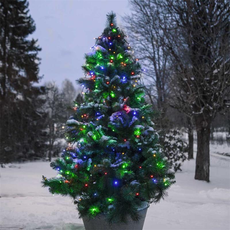 LED tree curtain | colourful/warm white | 160 LEDs | 230V