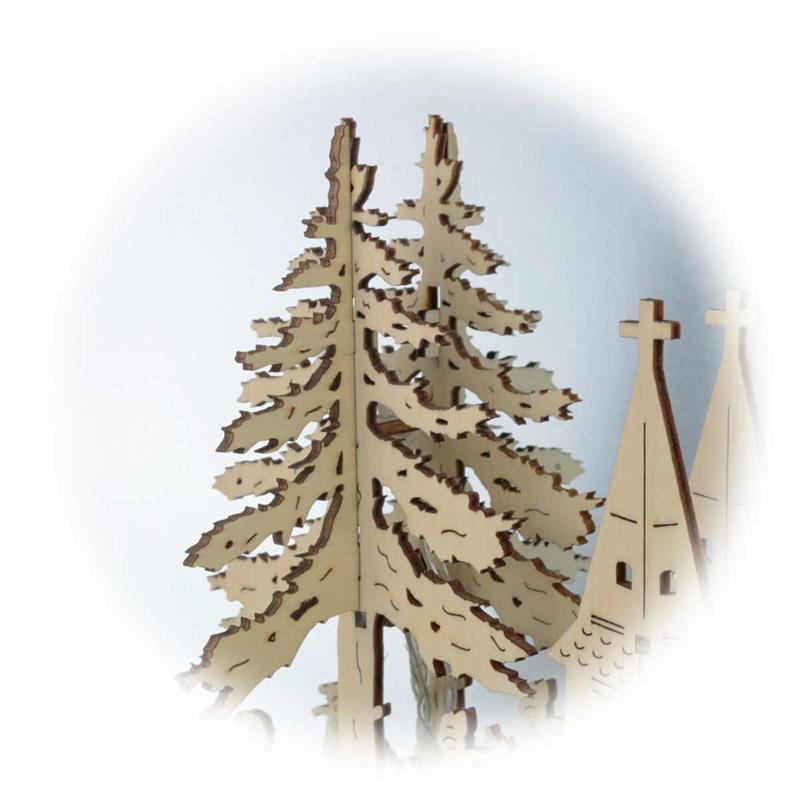 LED window light Waldorf | wood, natural | battery