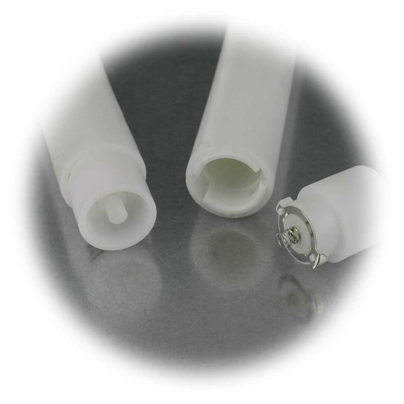 LED candles, set of 2   30/40cm   Ø2,4cm   wax coating