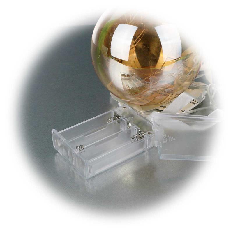 Led glaskugel 11cm orange batterie timer - Weihnachtsbeleuchtung mit batterie und timer ...