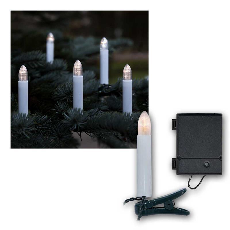 led christbaumkerzen mit 16 kerzen batterie timer gr n. Black Bedroom Furniture Sets. Home Design Ideas