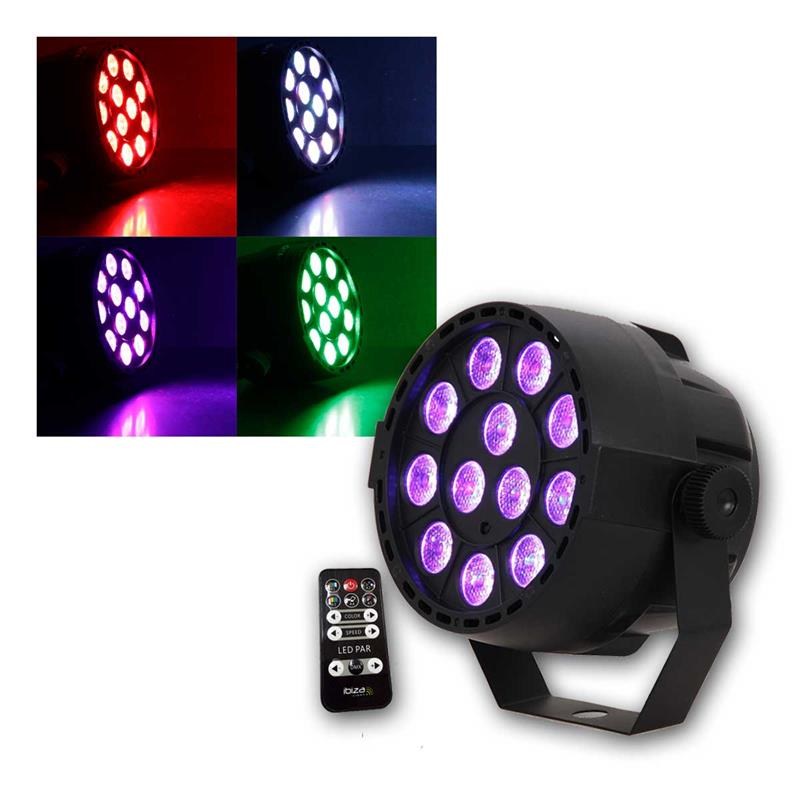 led disco strahler rgb 12x3w dmx musik partylicht. Black Bedroom Furniture Sets. Home Design Ideas