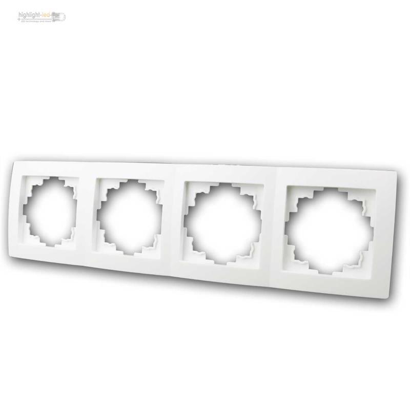 FLAIR Schalterprogramm weiß unterputz UP Serie mi Rahmen Schalter ...