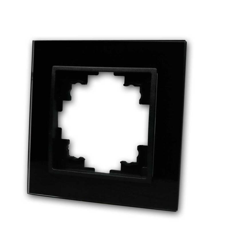 flair glasrahmen schwarz 1 fach. Black Bedroom Furniture Sets. Home Design Ideas