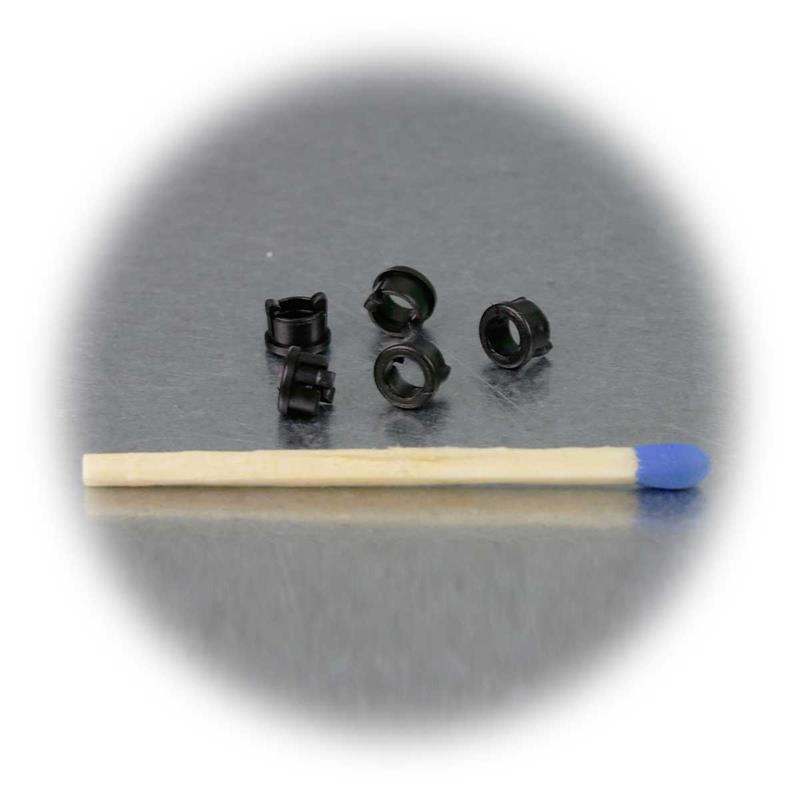 20 LED Montageringe Plastik schwarz für 3mm LEDs