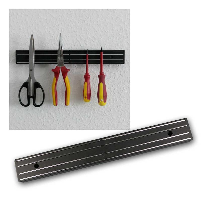 magnetleiste mit schraubl chern 310x40x20mm lxbxh. Black Bedroom Furniture Sets. Home Design Ideas