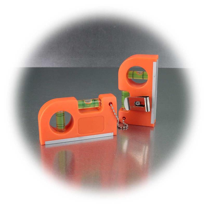 Pocket Wasserwaage | mit Magnet & Clip | 2er Set