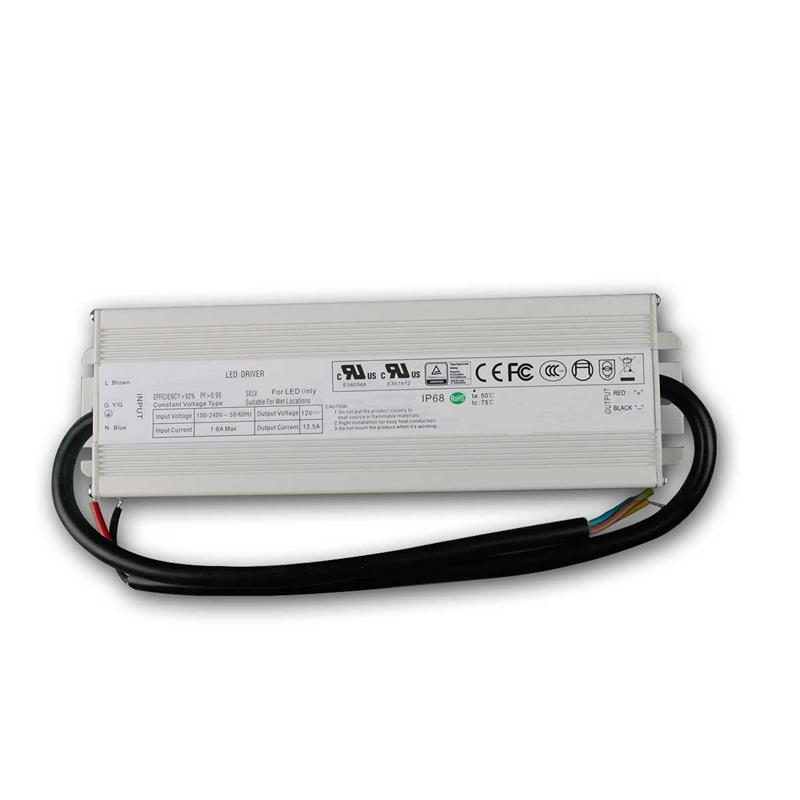 LED transformer 150W | 12V DC, up to 12.5A | IP68
