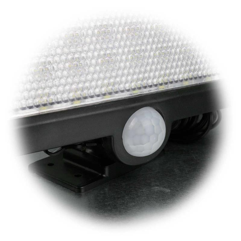 LED solar floodlight with motion detector | 4200K, IP44