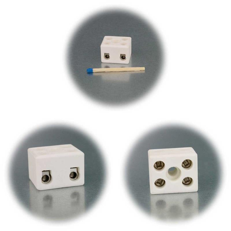 Porzellan Lüsterklemme | 1/2/3 Pole | 2,5mm², hitzebeständig