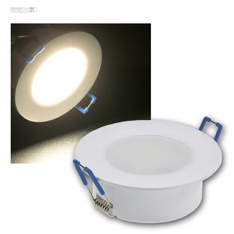 LED Feuchtraum Einbaustrahler Rund Eckig Einbauleuchte Badezimmer Spot