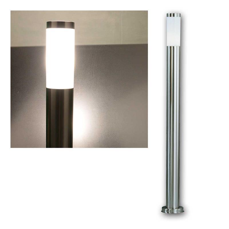 led gartenleuchte edelstahl standleuchte ip44 110cm. Black Bedroom Furniture Sets. Home Design Ideas