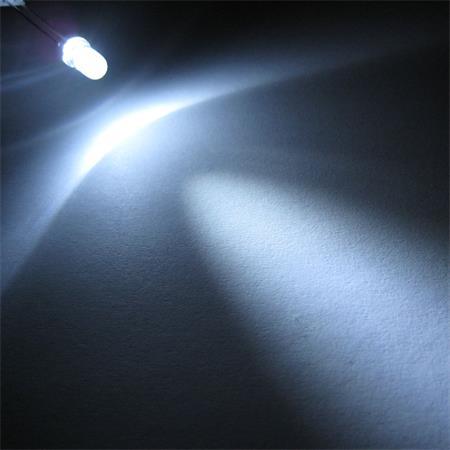 """R 100 LEDs 5mm wasserklar weiß Typ /""""WTN-5-14000pw/"""" weiße LED Leuchtdioden white"""