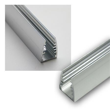 2,5 m aluminium socle Barres Argent alu anodisé à 100 mm Accessoires Barre