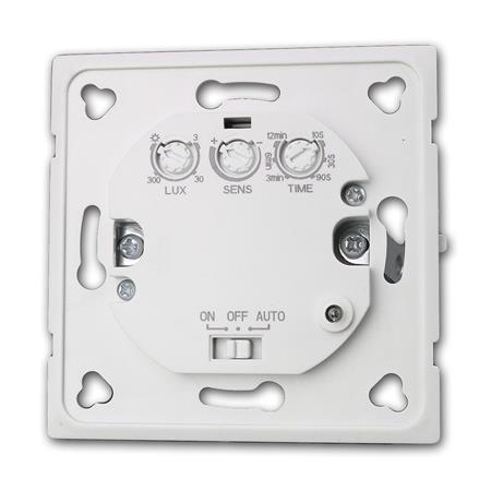 LED geeignet Unterputz HF Radar Bewegungsmelder Wand Einbau 1W-1200W 230V passend Dose 60mm