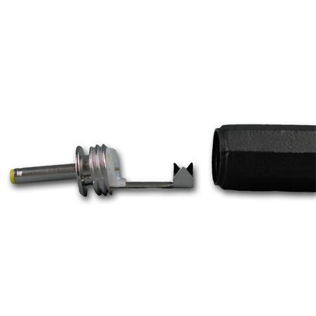 10 x DC-Stecker mit Knickschutz Bohrung 0,75 x 2,4mm 0,75x2,4mm Steckverbinder