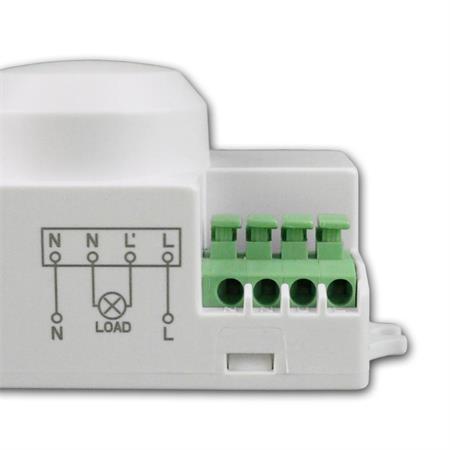 Mikrowellen Einbaubewegungsmelder 230V LED HF PIR Einbau Bewegungsmelder Radar