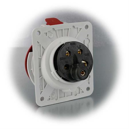 16A rot CEE Steckdose 5-polig 400V Kraftstrom Dose CEE-Einbausteckdose IP44