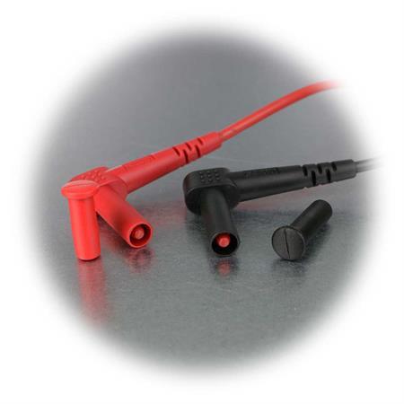130 cm Sicherheitsstecker schwarz und rot Messkabelsatz McPower /'/'Premium/'/'