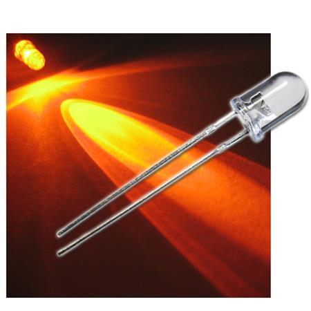 """50 Leuchtdioden 5mm ORANGE  Typ /""""WTN-5-6000o/"""" LEDs und Widerstand oranje arancio"""