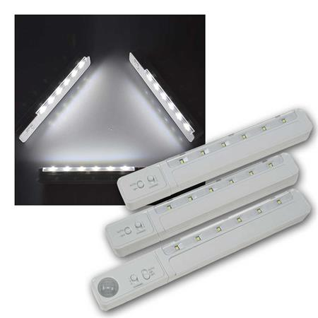 LED Unterbauleuchte mit Bewegungsmelder Batteriebetrieben 9 SMD LEDs
