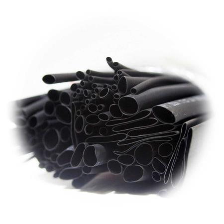 BUNT 200-teilig im Beutel je 10cm Stücke Sortiment Schrumpfschlauch SCHWARZ